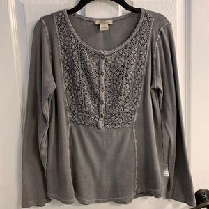 Lucky Brand size medium ribbed blouse